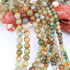 1 Bunch Round Peacock Agate Stone Spacer Bead Necklace Jewelry Making 6/8/10mm