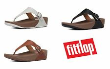 Ladies FitFlop The Skinny Sandals Slip On Leather Flip Flops Toe Posts