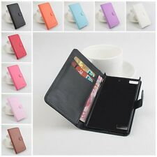 For Blackberry Z3 / Z30 PU Leather Flip Stand Case Wallet Pouch Cover Multicolor