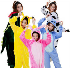 Unisex Adult Animal Onesie Sleepwear Pajamas Kigurumi Cosplay Costume Halloween