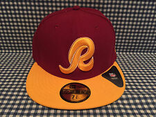 New Washington Redskins New Era 59Fifty Two Tone Fitted Hat Sideline NFL NWT
