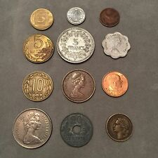Lot Of 12 Different World Coins