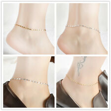 Women Gold Chain Anklet Simple Ankle Bracelet Barefoot Sandal Beach Foot Jewelry