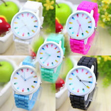 Geneva New Fashion Unisex Scale Silica Jelly Gel Quartz Wrist Watch Gift