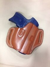 Leather PANCAKE style Gun Holster  - RUGER LC9 / LC380 WITH LASER (#6030)