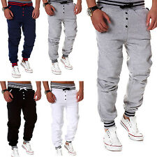 ST Mens Casual Harem Pants Sweatpants Drop Crotch Sports Trousers Jogging Pants