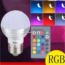 Remote Control 5W E27 LED RGB Magic Color Changing Light Bulb Party Lights Lamp