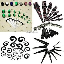 New 23 Pcs Ear Taper+ PLUG Kit 14G-00G 1.6mm-10mm Gauges Expander Set Fashion