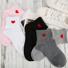 Fashion Womens Heart Cute Heart Ankle High Low Cut Soft Cotton Socks Casual