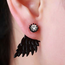 Silver Gifts Women's Inlaid Party New Earrings Alloy Rhinestone Wings