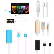 2M AirPlay 8Pin Lightning to HDMI /HDTV Cable Adapter For iPhone6 6S 5 5S plus