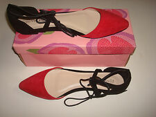 NEW WOMEN FASHION SHOES NEW STYLE BALLET FLAT COLOR RED / BLACK (SPRING SALE)