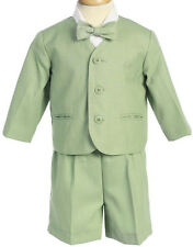 Boys Outfit Sage Green Eton Suit NWT Toddler Lito Wedding Ring Bearer Easter