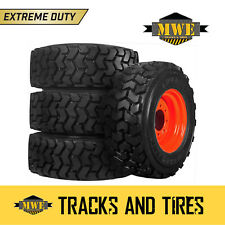 4 New 10-16.5 Solideal (Camso) Lifemaster Skid Steer Tires - Pick Your Rim Color