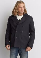 American Eagle Outfitters Mens AEO Wool Peacoat Jacket Winter Coat S,M,L,XL NEW!