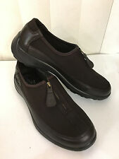 Fly Flot Glory Zipper Brown Leather/Textile Loafers Size 36-42 (US 5.5-11)