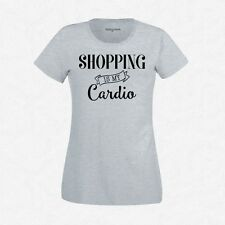 T-Shirt Femme Gris Shopping is my cardio