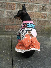 Pet Small dog clothes Chihuahua Coat Sweater dress, jumper Yorkie outfit XS,S,M