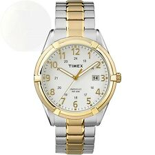 Timex Mens Easton Avenue Watch Two-Tone Stainless Steel Expansion Band New