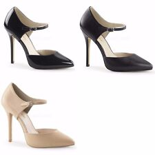 PLEASER Amuse-35 Patent or Leather Black Nude Classic Pumps Work Dress Heels