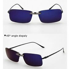 Polarized Clip On Sunglasses Sun Glasses Driving Night Vision Lens For Metal
