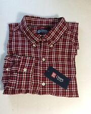 Mens Chaps Classic-Fit Twill Plaid Casual Button-Down Shirt Red Sz.XL #24