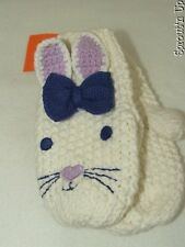GYMBOREE bunny mittens 12 18 24 months 2T NEW NWT knit EASTER