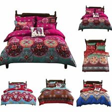 NEW Bohemian Oriental Mandala Bedding Quilt Duvet Cover Set Twin Full/Queen King