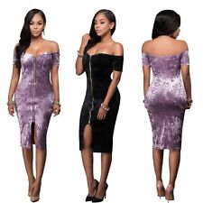 Women Sexy Off Shoulder Strapless Cocktail Dress Evening Clubwear Party