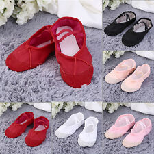 New Canvas Ballet Dance Shoes Slippers Pointe Dance Gymnastics For Children O7