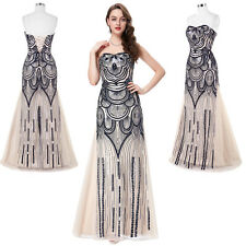 Long Strapless Formal Evening Bridesmaid Party Cocktail Gown Masquerade Dresses