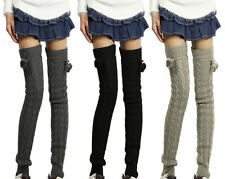 Promot Warmer Winter Women's Leg Long Wool Crochet Knit Knee Legging Socks Boots
