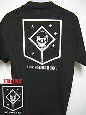1ST RAIDER BN T-SHIRT/ USMC/ RECON/ FORCE RECON/ MARSOC/ MARINE RAIDER/  NEW