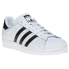 New Mens adidas White Superstar II Leather Trainers Court Lace Up