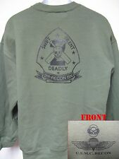 USMC 2ND RECON BN SWEATSHIRT/ wings and bubble/ MARINES/ RECON/ MILITARY/   NEW