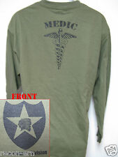 2nd I.D. LONG SLEEVE T-SHIRT/ MEDIC  / MILITARY/ ARMY / NEW
