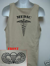 AIRBORNE tank top T-SHIRT/ COMBAT/  MEDIC  / MILITARY/   NEW