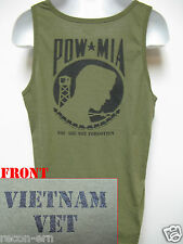 VIETNAM VETERAN OD GREEN TANK TOP/ POW/MIA/ MILITARY/ NEW