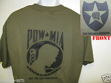 2nd I.D. T-SHIRT/ POW MIA/ COMBAT/ MILITARY T-SHIRT/  NEW