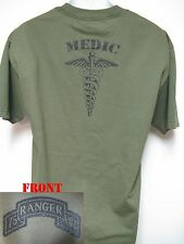 75th RANGER RGT T-SHIRT/ MILITARY/ MEDIC/ ARMY/ NEW
