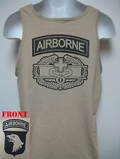 101ST AIRBORNE COMBAT MEDIC BADGE TANK TOP/ MILITARY/ NEW/ ARMY T-SHIRT/ NEW
