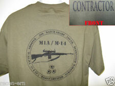 PVT MILITARY CONTRACTOR T-SHIRT/ M14 M1A RIFLE