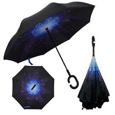 Reverse C-Hook Hands Free Umbrella Upside Down Inverted Umbrella Gifts