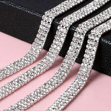 1M Diamante Chain Trim Rhinestone Crystal Silver Cake Toppers Decorations - SS12