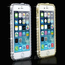 Bling Crystal Diamond Rhinestone Metal Bumper Frame Case Cover For iPhone 5 5S