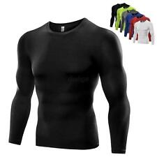 Compression Mens Sports Long Sleeve Top Skinny Tights Athletic Gym Running Shirt