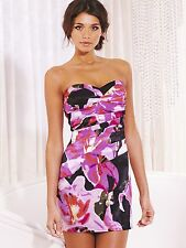 New LIPSY Bandeau BNWT £45 Bodycon Floral Pencil Prom Evening Party Club Dress