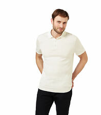 WoolOvers Mens Silk and Cotton Short Sleeve Knitted Casual Top Polo Shirt