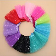 Ballet Dancewear Party Costume Bling Sequin Tulle Tutu Skirt Princess Dressups