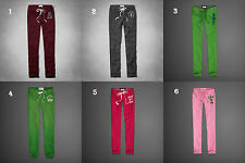 NWT Abercrombie&Fitch A&F Classic Skinny or Banded Sweatpants Green Pink Grey